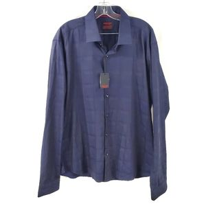 Jared Lang After Hours Button Down Shirt Navy NWT
